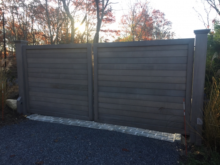 Custom Solid Red Cedar Gates with Internal Galvanized Steel Frame