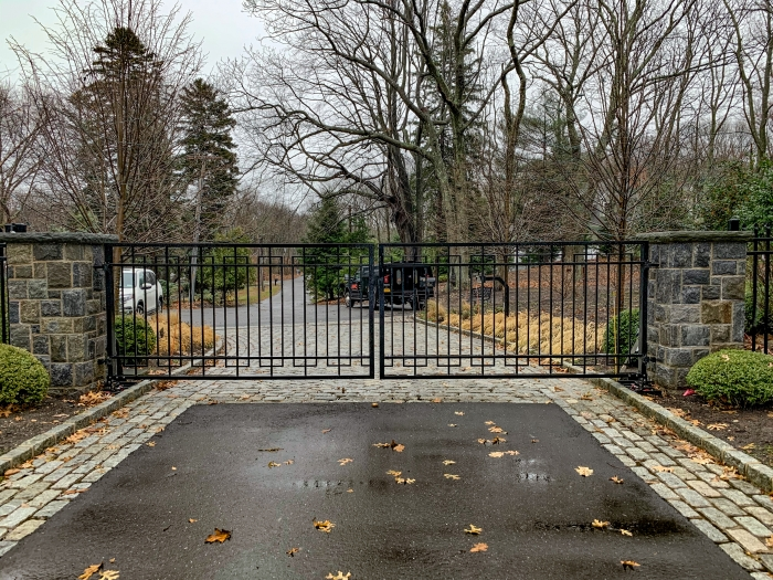 Custom Steel Ornamental Iron Gate - Faac In-Ground Operators