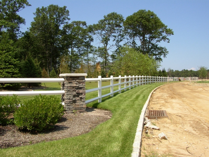White Painted Post and Rail Fencing