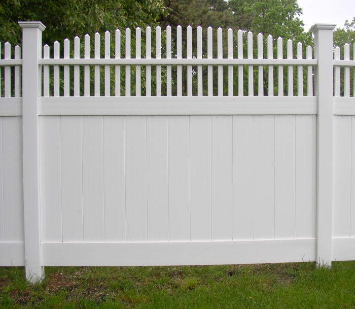 Arched Picket Top PVC Fence