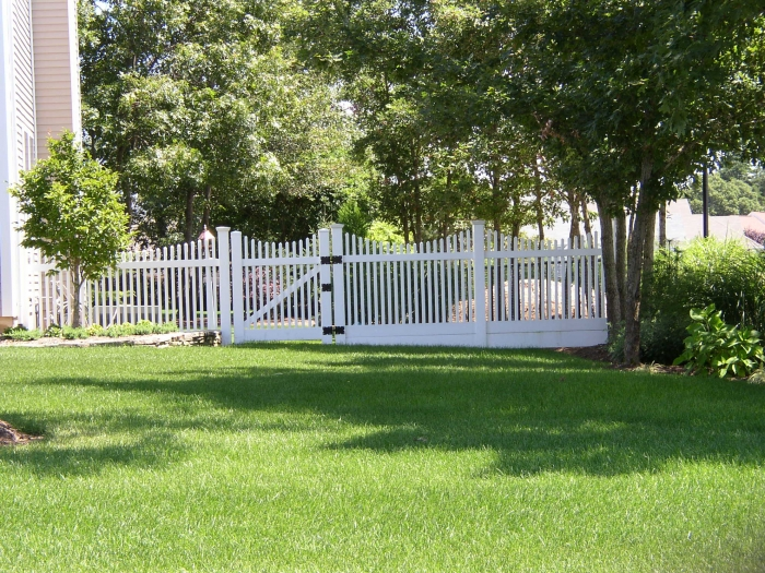 PVC Picket Fence with Bottom Filler Boards