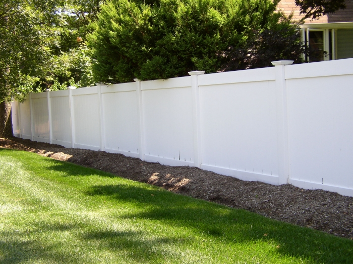 Solid PVC Privacy Fence